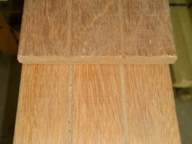 Plank hardhout 2x gegroefd 16x145mm