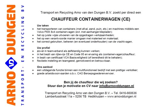 201707 Vacature Chauffeur